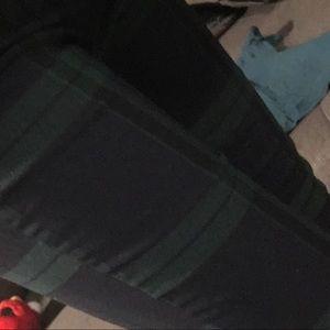 H&M green tartan pants; never worn
